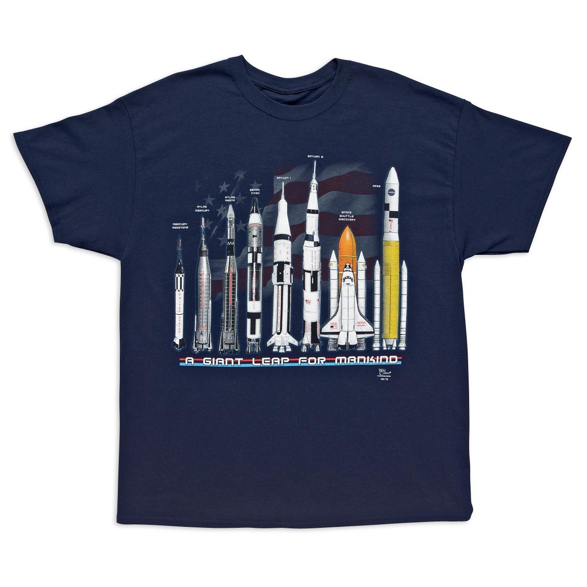 a5ec52d6 ... X-Large fits 46-48 inches, plus size XX-Large fits 50-52 inches. Relive  history space rocket science NASA wearing this NASA Shirt Tshirt ...