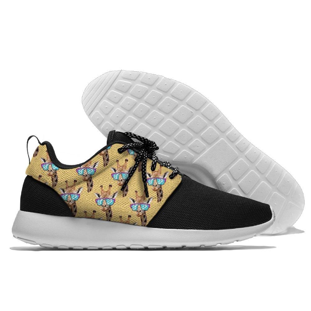 Giraffe With Retro Sunglass Womens Mens Running Shoe Casual Sports Shoes Fashion Sneakers 42