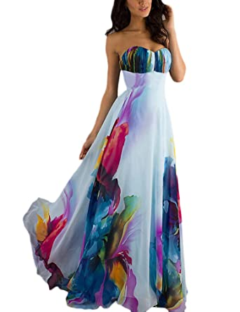 Vestiti Lunghi Donna Eleganti Da Cerimonia Bandeau Abito Da Sposa Vita Alta  Colourful Abiti Per Da 04c3a2b0b4d