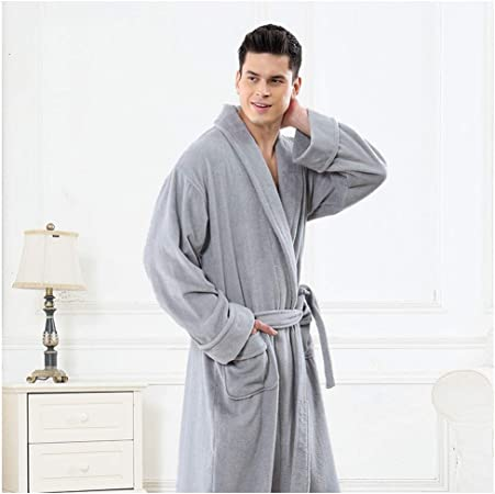 HXGpajamas Hombres Toalla Toalla 100% Algodón Terry Toalla Albornoz Bata Baño Perfecto For Gimnasio Ducha Hotel Robe Holiday Cómodo (Color : D, Size : XXL): Amazon.es: Hogar