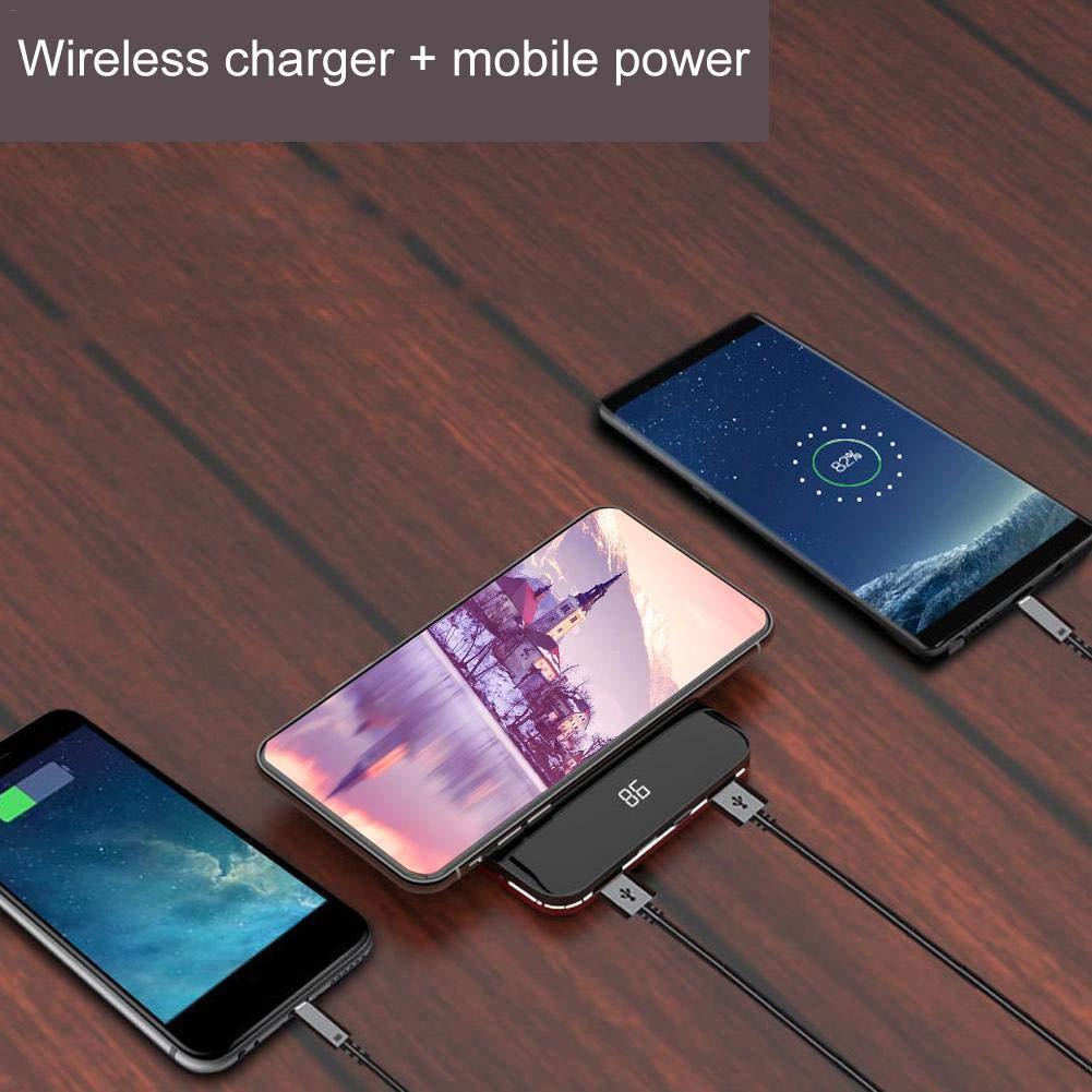 Power Bank - Cargador portátil de Carga inalámbrica para ...
