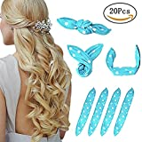 one direction you tube - Foam Hair Curlers, Pillow Cloth Hair Rollers,No Heat Sleeping Soft Sponge Rollers for Long, Short, Thick & Thin Hair Spiral Curls Hair Free Headband (Blue)