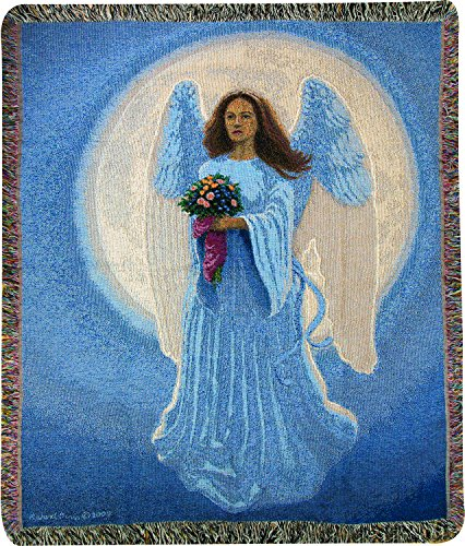 Angel Throw (Manual Tapestry Throw, Moon Angel, 50 x)