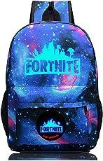 Fortnite - Mochila escolar para portátil de viaje, Azul, One_Size