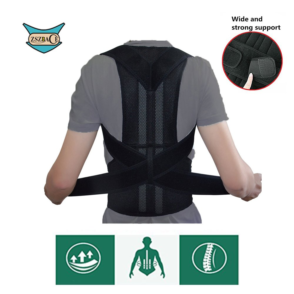 Adjustable Back Support Belt for Comfortable and Breathable Posture Appliance for Men and Women S-XXL (L)