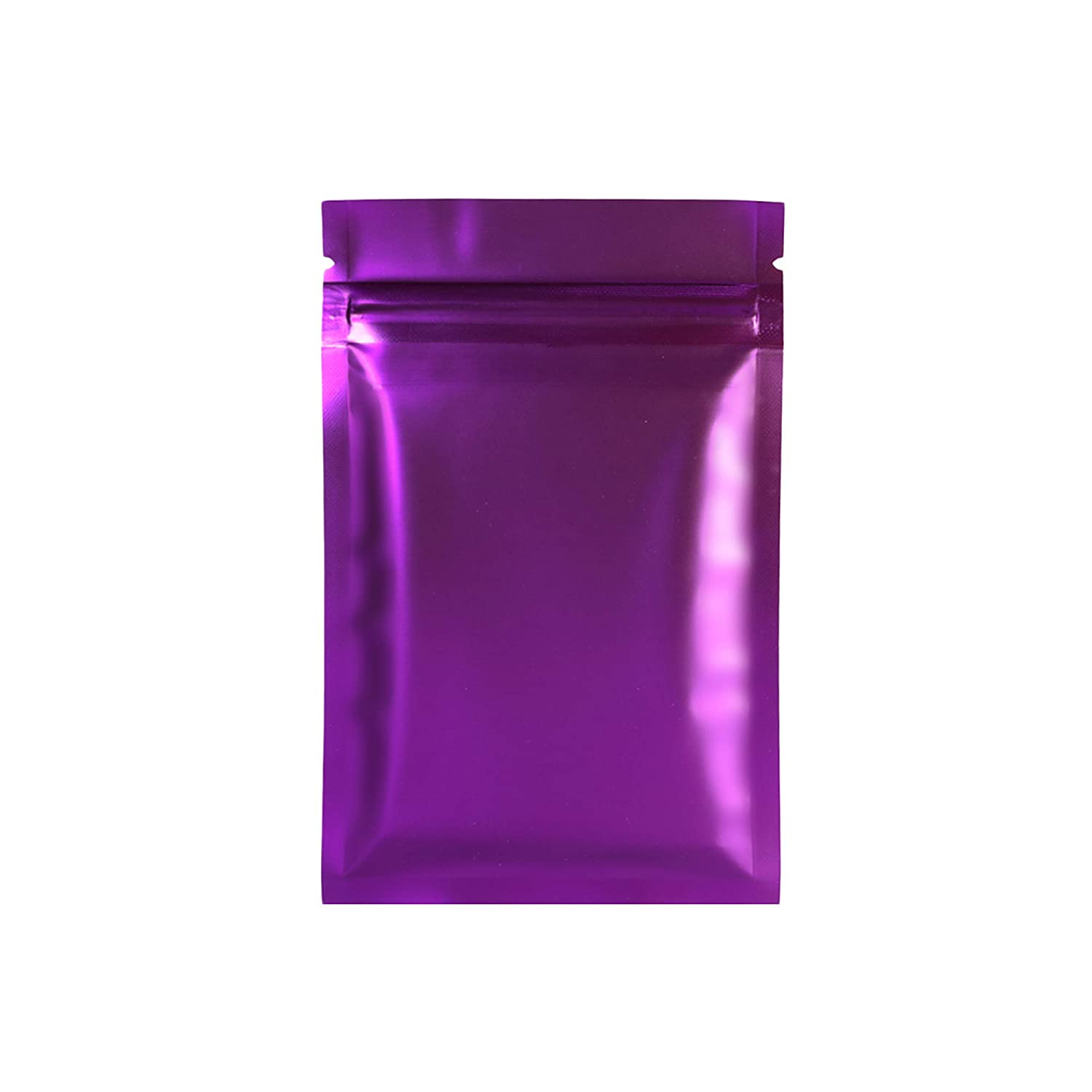 """3x4/"""" 100 pcs Double-Sided Glossy Purple Insect Proof Reusable Ziplock Pouch"""