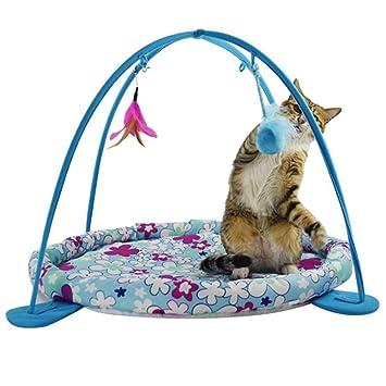 Chen0-super - Hamaca de Lujo para Gatos con Pelota de Juguete Acolchada de algodón