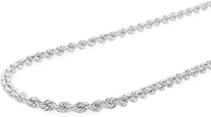 Italy Signed 925 Sterling Silver Twisted Rope Link Bracelet 7 14