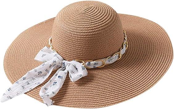 Mujeres de las se/ñoras plegable Sun viseras del casquillo de ala ancha anti-UV Campos de tenis Cap ni/ñas Floppy playa poco voluminoso visera