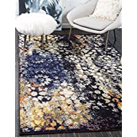 Unique Loom 3141276 Area Rug, 5 x 8, Blue