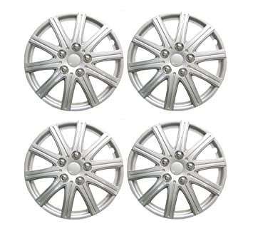 "Wheel Trims 15"" PEUGEOT 307 01-08 Set of 4 Covers + Valve Caps"