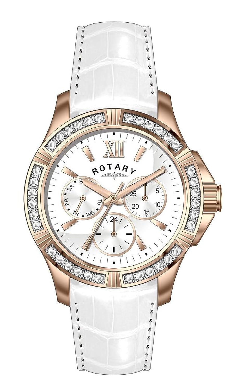 Rotary Damen-Armbanduhr XS Chronograph Quarz Leder LS60162-02