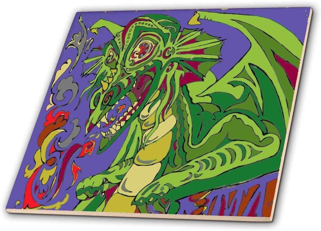 3dRose Old Dragon Story Teller - Ceramic Tile, 12-Inch (ct_211925_4)