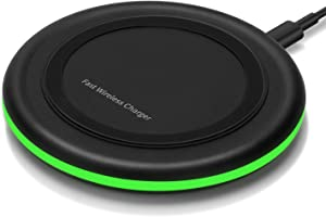 Wireless Charger 10W Qi Fast Wireless Charging Pad,7.5W Compatible with iPhone 11,11 Pro,11 Pro Max,Xs Max,XR,XS,X,8,8 Plus,10W for Samsung Galaxy S10,S10+,S9,S8,Note 10,10+,9,8,AirPods(No AC Adapter)