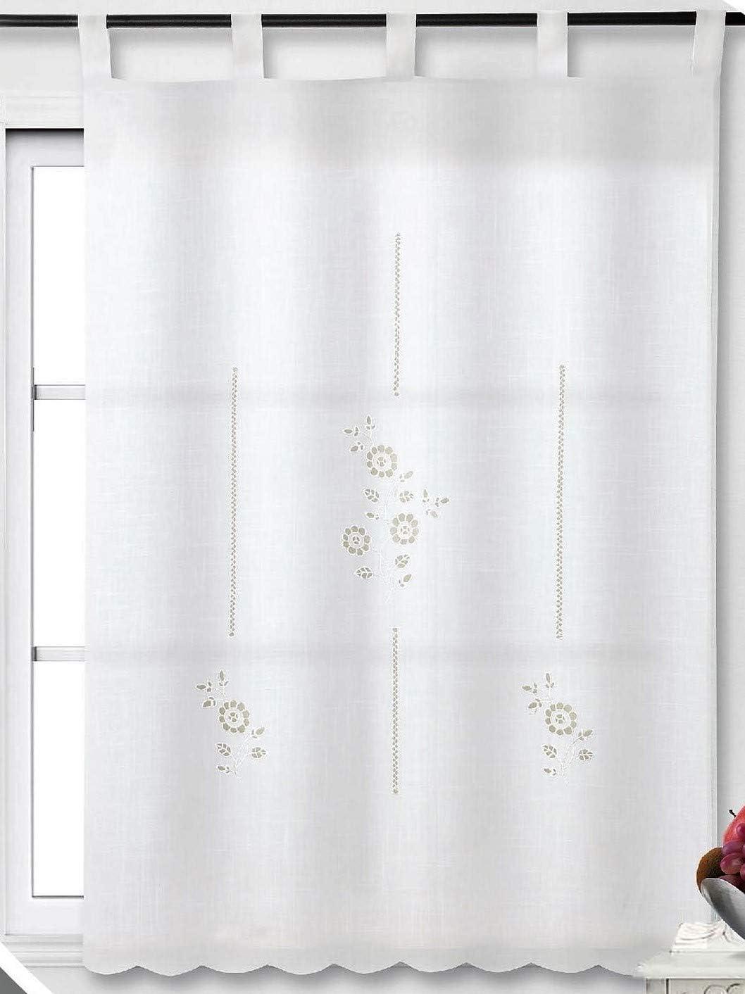 Forentex Pack 2 Cortinas Con Visillo 100X150Cm Para Para Cocina Bordadas Florales Decorativos Para Ventanas, S-1051,: Amazon.es: Hogar