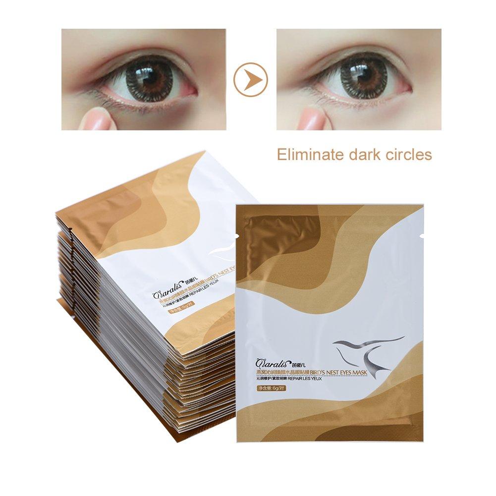 30 Pack Maschera occhi collagene Birds Nest Collagen Eye Mask antirughe linee sottili Idratante set di patch per palpebre Brrnoo