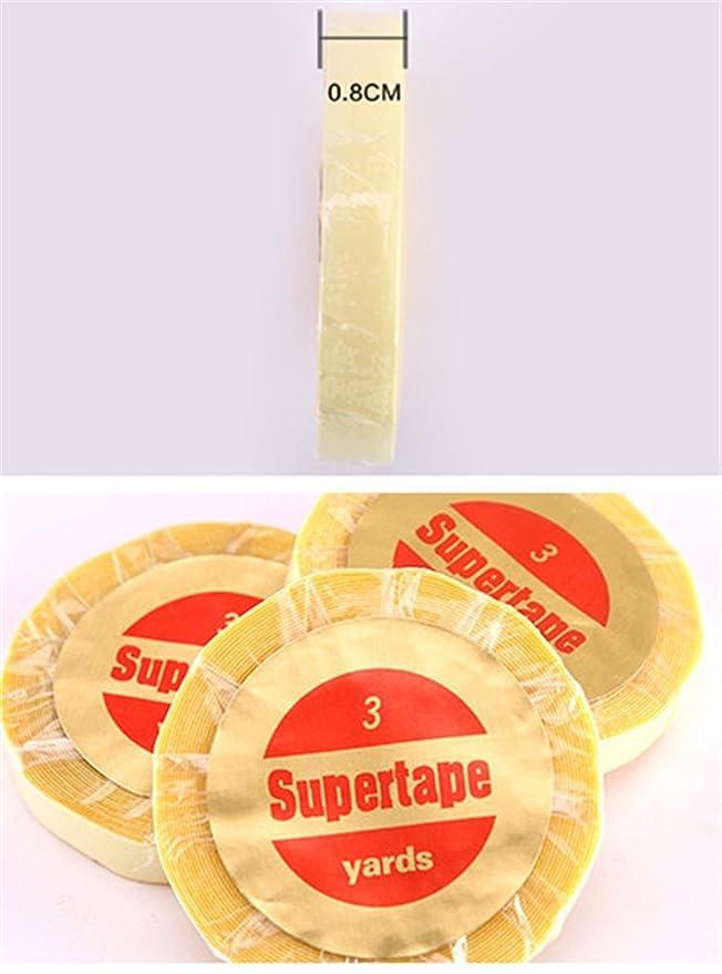 Remeehi 1 pieza encaje peluca sintética pegamento pegamento de Malta agua prueba Supertape encaje peluca Extensiones de pelo cinta adhesivos cinta adhesiva ...