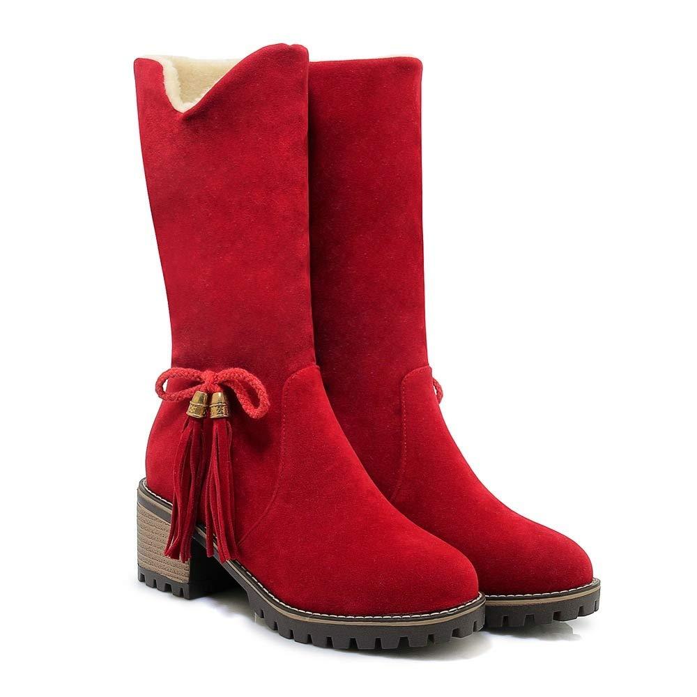 QINGMM QINGMM QINGMM Frauen Mode Schnee Stiefel 2018 Herbst Winter Futter High Heel Bogen Baumwolle Stiefel B07JQ3KR3R Sport- & Outdoorschuhe Liebessport, wirklich glücklich 77fb00