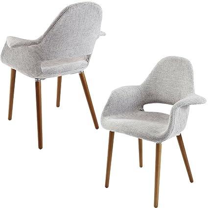 Amazing Amazon Com Mid Century Modern Armchair Taupe Wooden Frame Unemploymentrelief Wooden Chair Designs For Living Room Unemploymentrelieforg