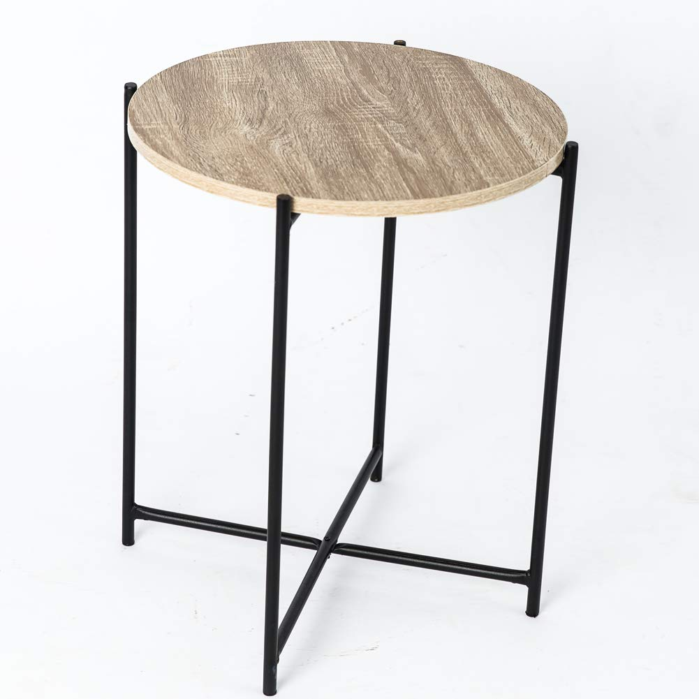 Industrial Style Round Coffee Table: C-Hopetree Coffee Table Small Round Occasional Side End