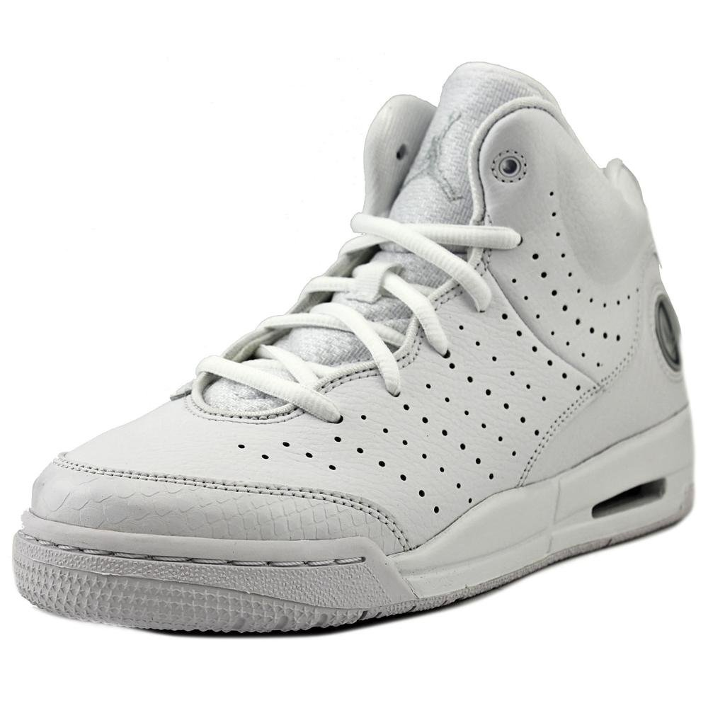 Jordan Nike Youths Flight Tradition White Leather Trainers 37.5 EU