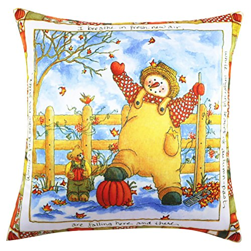 Square Christmas Printed Stuffed Cushion ChezMax Satin Peach Skin Stuffing Throw Pillow Insert For Living Room Sofa Couch Chair Back Seat price