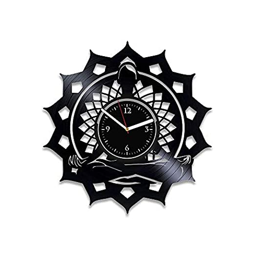 AIYOUBU Yoga Clock Yoga Vinyl Record Reloj de Pared ...