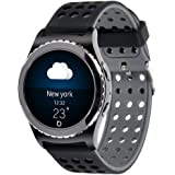 20mm Gear S2 Classic Smart Fitness Watch Band (SM-R732),Silicone Replacement for Samsung Galaxy Gear S2 Classic (Only for Classic Version) (Silincone band-07)