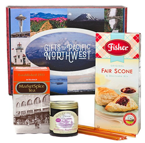 Breakfast Gift Box from the Pacific Northwest - Scone Mix, Jam, Honey & Tea Set (Scone Set)