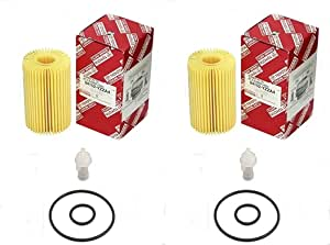 Set of (2) Toyota 04152-YZZA4 Oil Filter