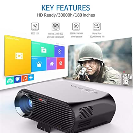 Amazon.com: Proyector, Proyector de Video 2800 Lux Mini ...