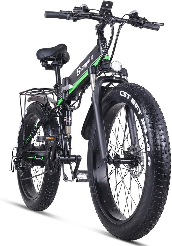 Shengmilo 1000W Grasa Bicicleta de Montaña Eléctrica 26inch E-Bike ...
