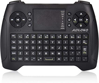 Teclado inalámbrico Mini 2.4G Teclado Portátil con Touchpad Mouse para PC/Portátil/Smart TV/Raspberry Pi2/3/KODI/Android TV Box/HTPC/Windows, Linux: Amazon.es: Electrónica