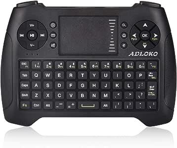 Teclado inalámbrico Mini 2.4G Teclado Portátil con Touchpad Mouse para PC/Portátil/Smart TV/Raspberry Pi2/3/KODI/Android TV Box/HTPC/Windows, Linux: Amazon.es: Electrónica