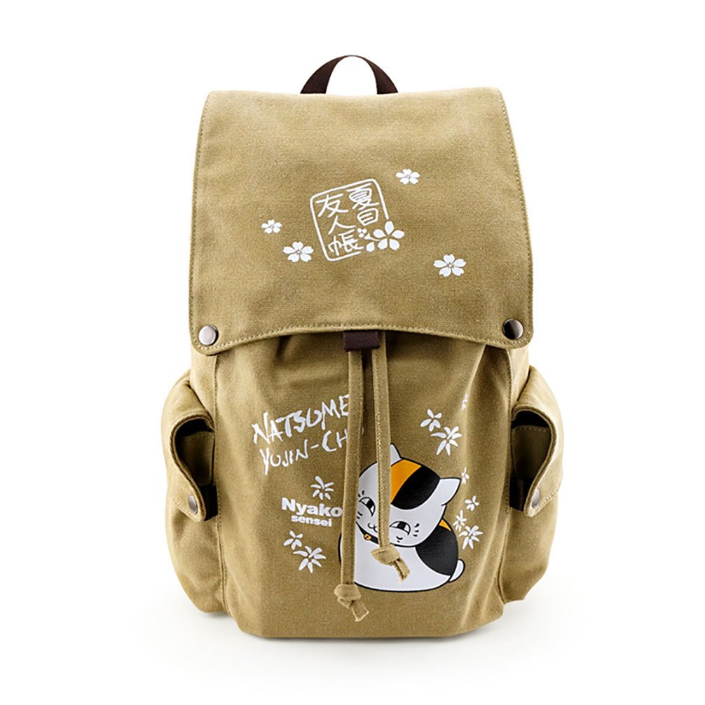 Anime Natsume Yuujinchou Student School Backpack Kawaii Shoulder Messenger Bag A