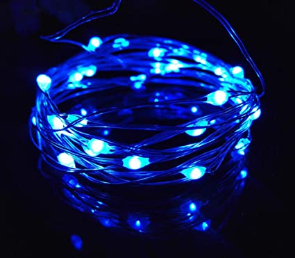 new style e0380 c395a Viewpick 10ft(3m) 30 LEDs Blue Fairy Lights Silver Wire String Lights AA  Battery Powered Led String Starry Light for Outdoor Decorative Halloween ...