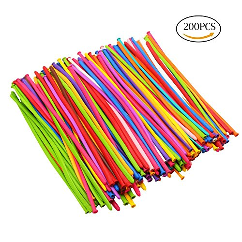 DECORA 200pcs Mix Color Twist Halloween Balloons for Wedding Birthday Easter Party Decoration Magic Ballons Assorted (The Party Mix Halloween)