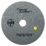 Twister Diamond Cleaning System 21'' Yellow Floor Pad - 1500 Grit - 2 per case