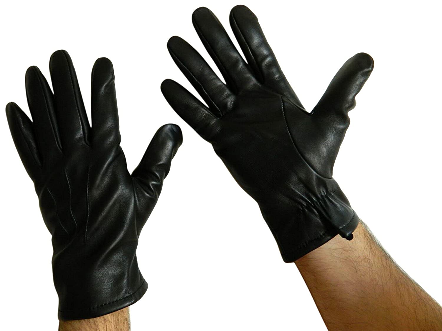 Mens black leather gloves xl - Fownes Men S Cashmere Lined Black Conductive Lambskin Leather Smart Gloves S At Amazon Men S Clothing Store