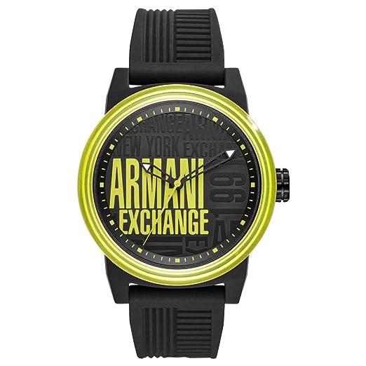 4ae31ecad464 Armani Exchange Reloj Analógico para Hombre de Cuarzo con Correa en  Silicona AX1583  Amazon.es  Relojes