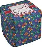 RNK Shops Parrots & Toucans Cube Pouf Ottoman - 13'' (Personalized)