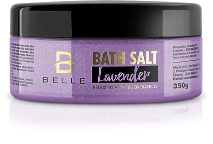 Belle® Sales de baño – relajante y regeneración – Vela de aromaterapia sales minerales –
