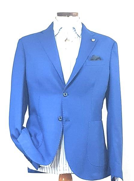Amazon Giacca Gilles Alessandro Abbigliamento Azzurra Uomo it 8Ia85qp
