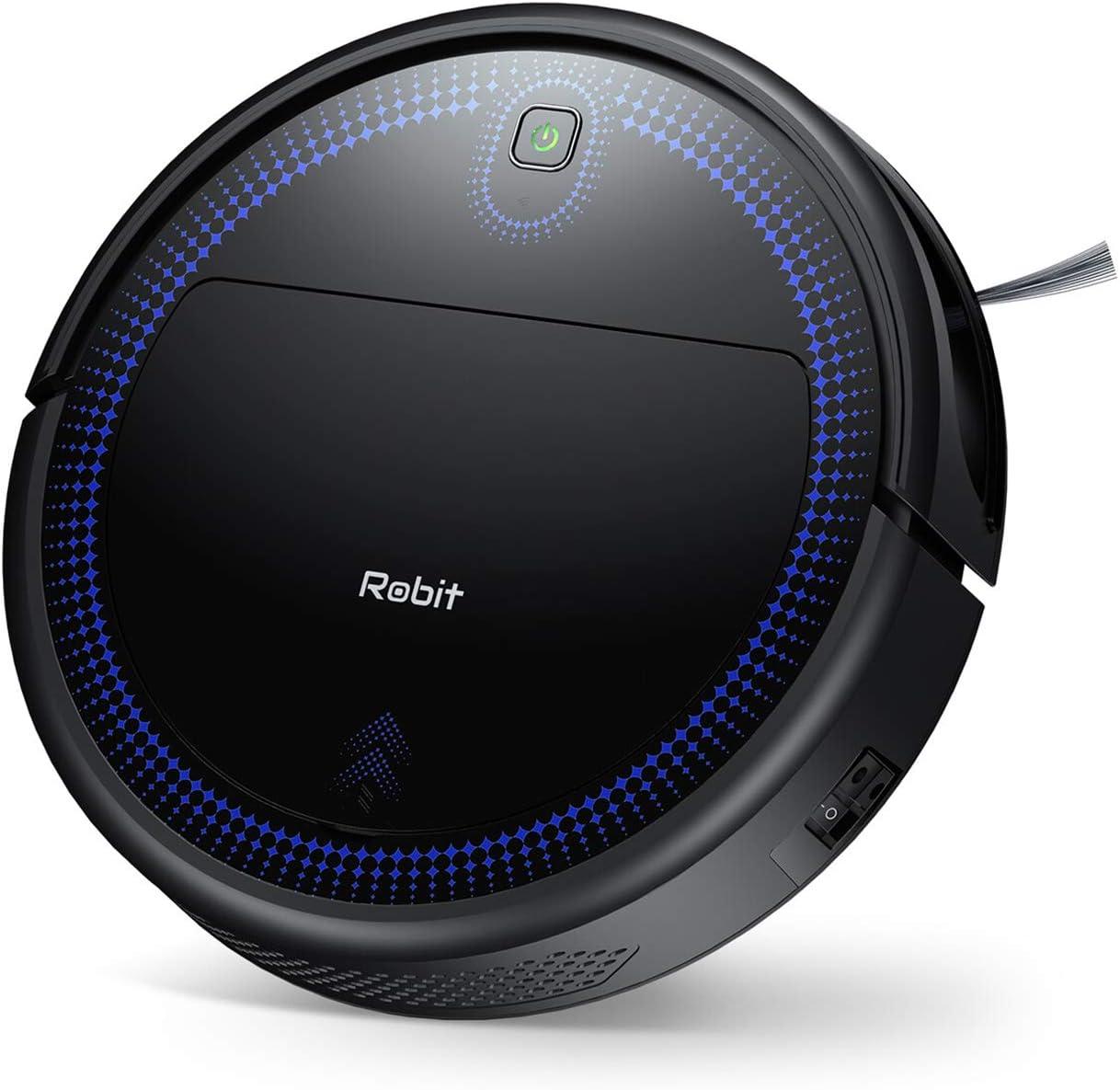 Robot Vacuum Cleaner, Robit 2000Pa (Slim) Super High Sunction & Self Charging Robotic Vacuum Cleaners, Cleans Pet Hair, Hard Floors, Carpet