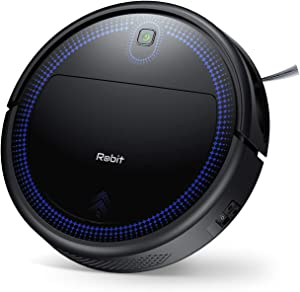Robot Vacuum Cleaner, Robit 2000Pa (Slim) Super High Sunction & Self Charging Robotic Vacuum Cleaners, Cleans Pet Hair, Hard Floors, Carpet