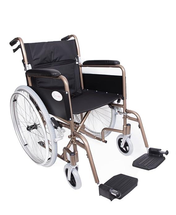 Silla de ruedas autopropulsada plegable NW Angel Mobility, 9 kg, de aluminio ligero: Amazon.es: Jardín