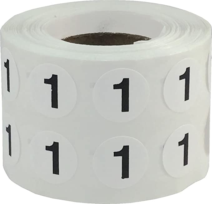 No Handshakes 2 Inch Circle Sticker 100 Labels on a Roll