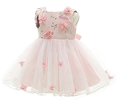 Amazon.com  ADHS Infant Newborn Kids Baby Girls Flower Wedding Gowns  Butterfly Dress  Clothing bc2ea4f84