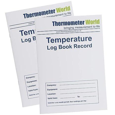 Libro de registro de temperatura para frigorífico de 6 meses, 2 ...