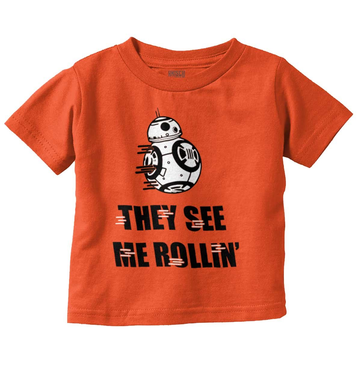 Brisco Brands They See Me Rollin BB8 Darth Vader Star Han Solo Wars Yoda Toddler Infant T